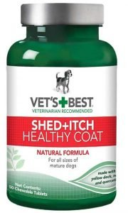 Vet's Best Healthy Coat Shed and Itch Relief Dog Supplements