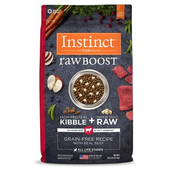 nature variety instinct raw boost dog food