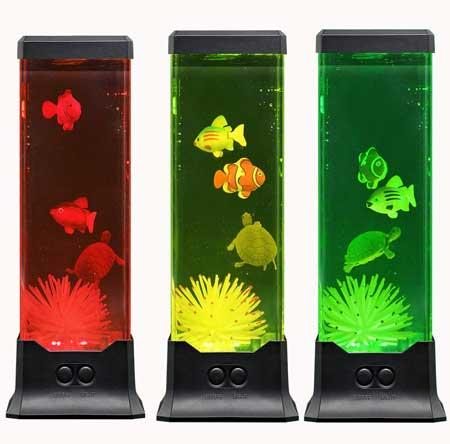 Multi-Color Electric LED Fake Fish Tank
