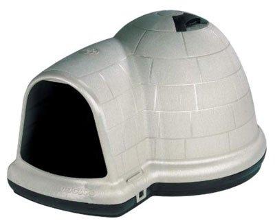 The INDIGO W/MICROBAN Igloo Dog Bed