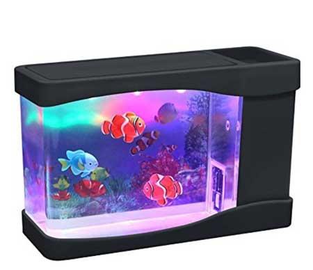 fake fish tank for cats