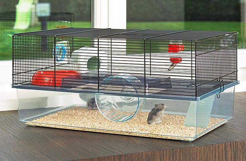 ferplast glass hamster cage